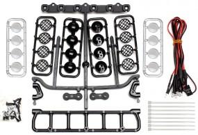 LED-Scheinwerfer-Set 6-fach für RC-Cars, Dach oder Front