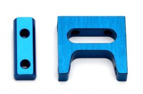 TC6.2 Servo-Halter, Alu CNC, Blau