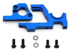 RC8.2e Motor-Halterung, CNC Alu, Blau FACTORY TEAM
